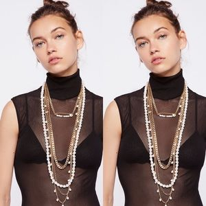 Free People Cydney Pearls Layered Necklace